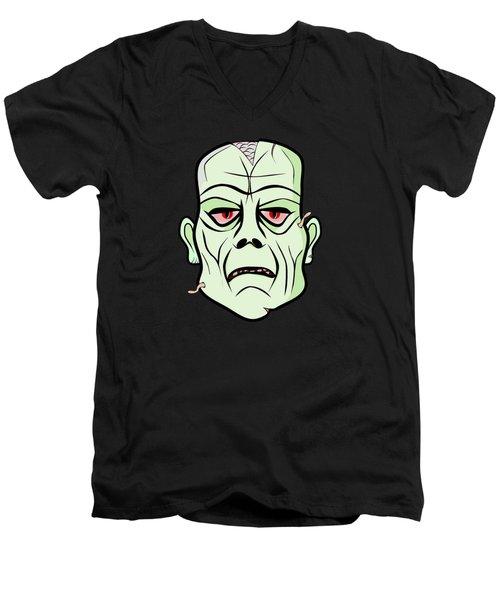 Zombie Head Men's V-Neck T-Shirt
