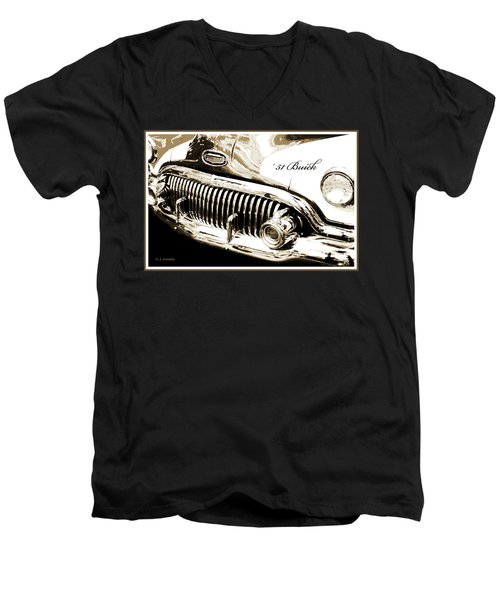1951 Buick Super, Digital Art Men's V-Neck T-Shirt