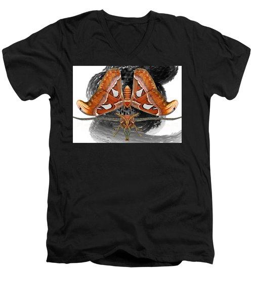 Atlas Moth7 Men's V-Neck T-Shirt