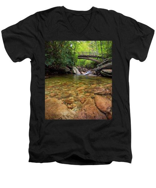 Boone Fork Bridge - Blue Ridge Parkway - North Carolina Men's V-Neck T-Shirt
