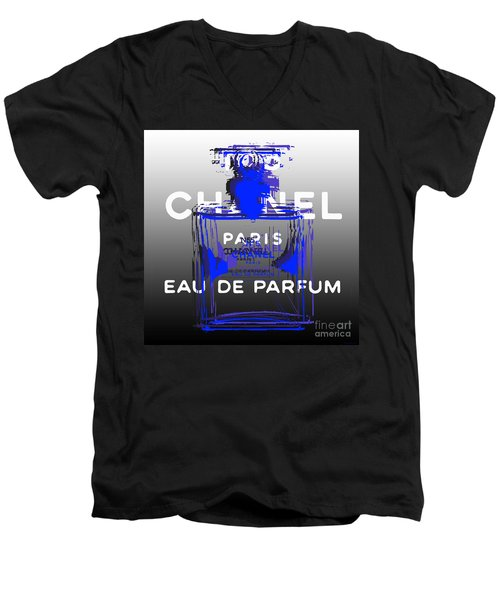 Chanel No 5 - Pop Art Men's V-Neck T-Shirt