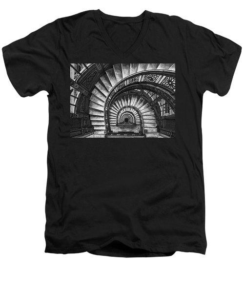 Frank Lloyd Wright - The Rookery Men's V-Neck T-Shirt