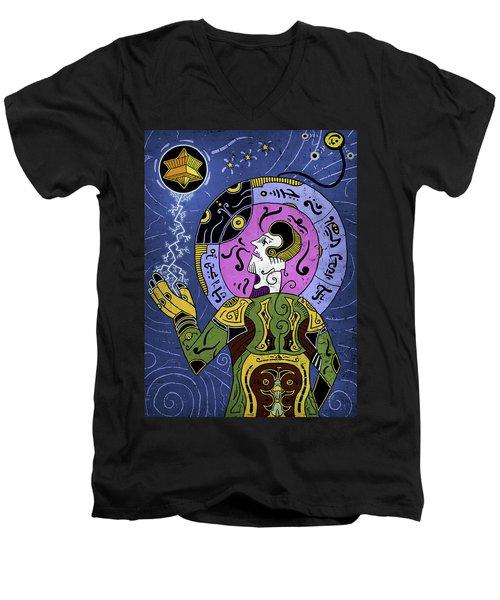 Men's V-Neck T-Shirt featuring the digital art Incal by Sotuland Art