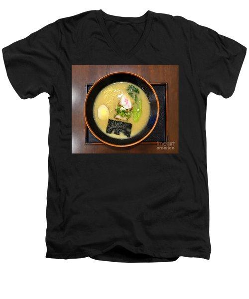 Japanese Miso Noodle Soup Men's V-Neck T-Shirt