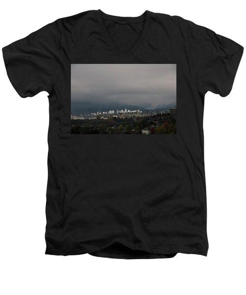 North Vancouver  Men's V-Neck T-Shirt