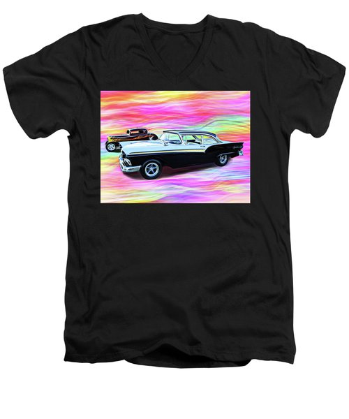 1932 And 1957 Fords Men's V-Neck T-Shirt