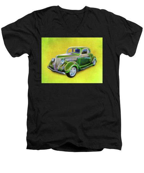 1936 Green Ford Men's V-Neck T-Shirt