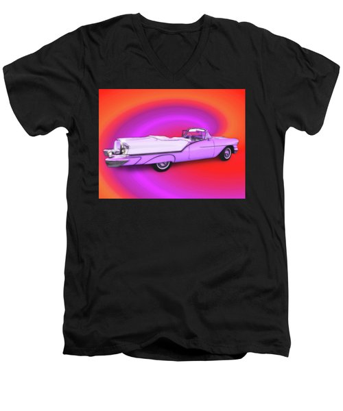 1957 Oldsmobile 98 Starfire Men's V-Neck T-Shirt