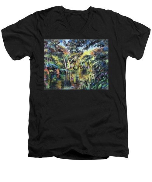 Lake Reflections Men's V-Neck T-Shirt