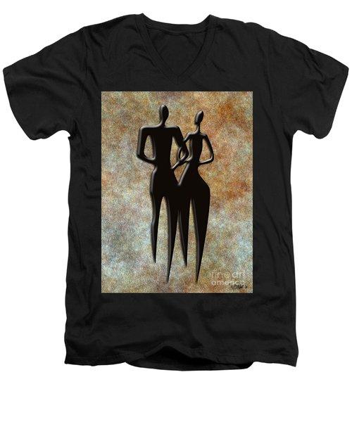 2 People Men's V-Neck T-Shirt