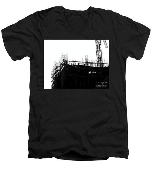 Large Scale Construction In Outline Men's V-Neck T-Shirt