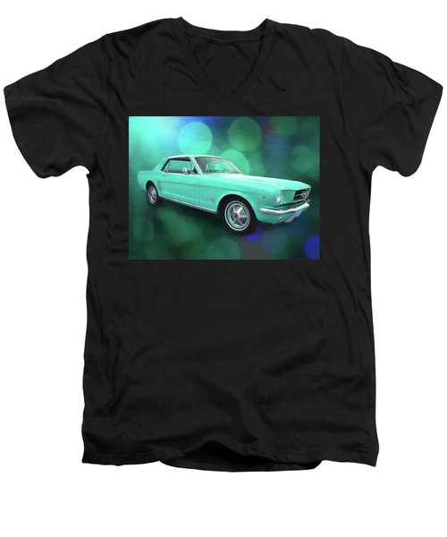 65 Mustang Men's V-Neck T-Shirt