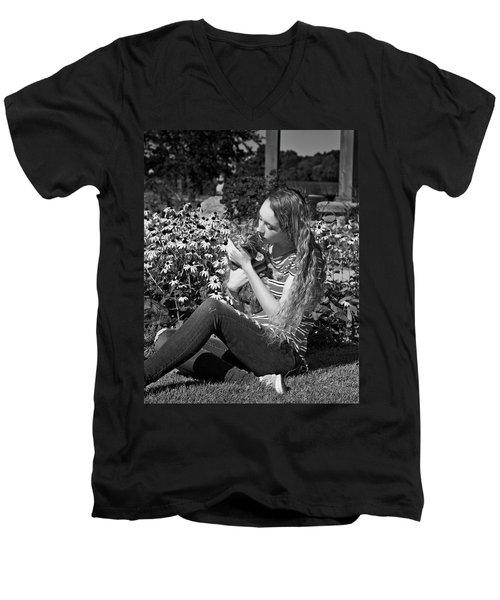 9B Men's V-Neck T-Shirt