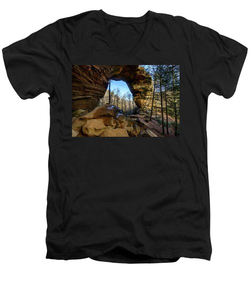 A Hole In Time Men's V-Neck T-Shirt