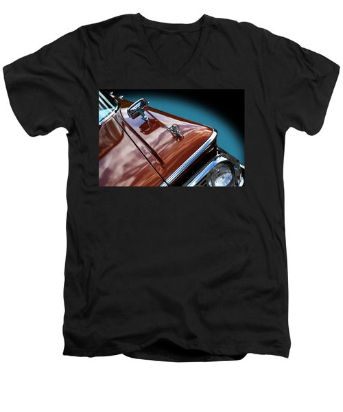 Men's V-Neck T-Shirt featuring the photograph A New Slant On An Old Vehicle - 1959 Edsel Corsair by Debi Dalio