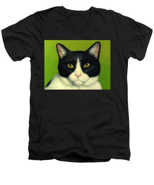 A Serious Cat Men's V-Neck T-Shirt