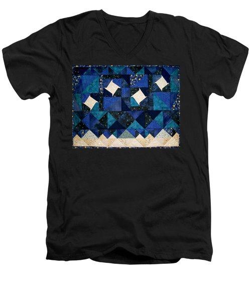 A Winter Snowscape Men's V-Neck T-Shirt