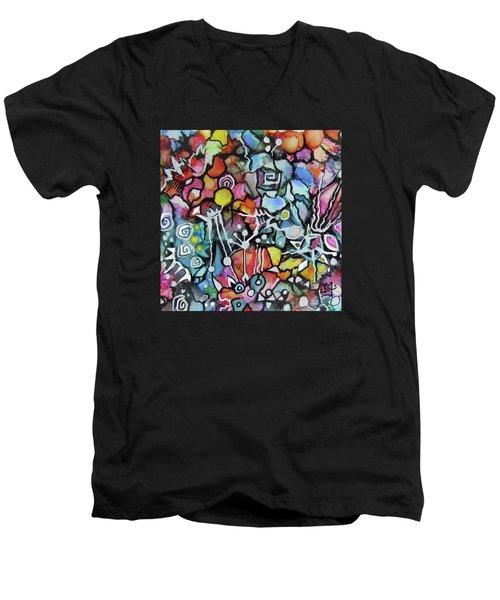 A Zentangle Dance Men's V-Neck T-Shirt
