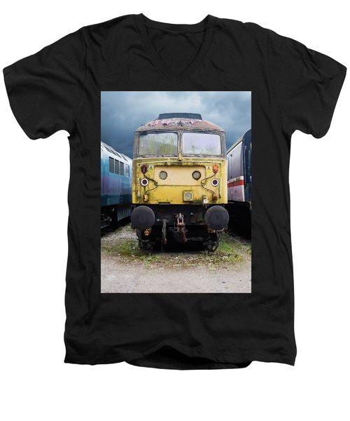Abandoned Yellow Train Men's V-Neck T-Shirt