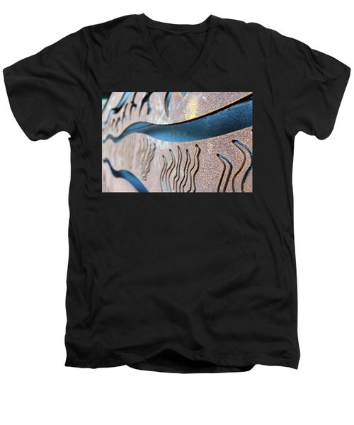 Abstract Lake Patricia Sign 1 Men's V-Neck T-Shirt