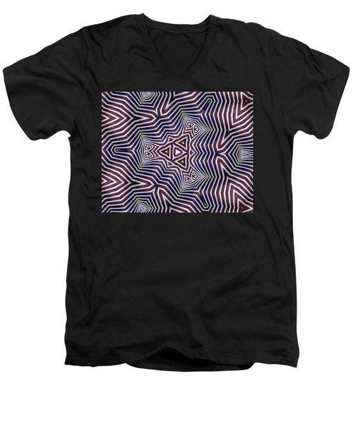Abstract Zebra Design Men's V-Neck T-Shirt