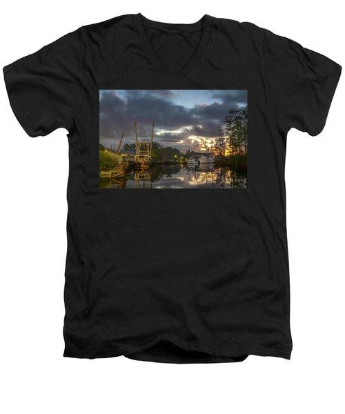 After The Storm Sunrise Men's V-Neck T-Shirt