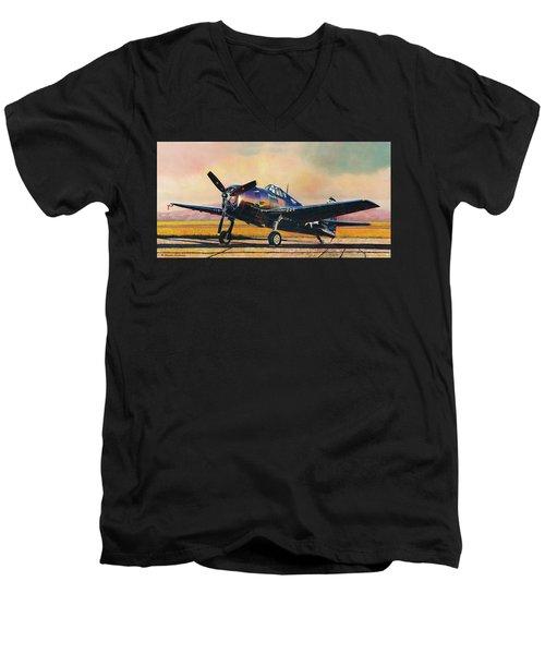 Airshow Hellcat Men's V-Neck T-Shirt