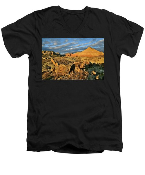 Amazing Clouds Over Ruby Mountain And Colorado National Monument Men's V-Neck T-Shirt
