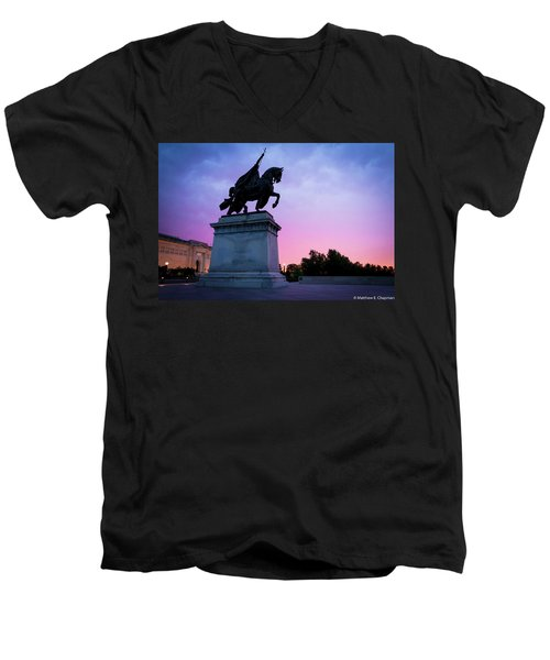 Apotheosis Of St. Louis, King Of France Men's V-Neck T-Shirt