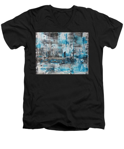 Men's V-Neck T-Shirt featuring the painting Arctic by 'REA' Gallery