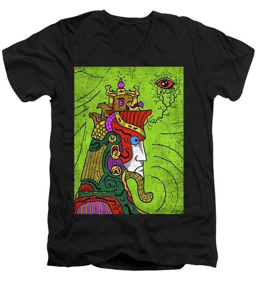 Men's V-Neck T-Shirt featuring the digital art Ancient Egypt Pharaoh by Sotuland Art
