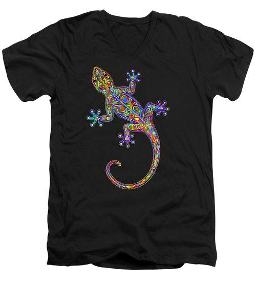 Electric Gecko Men's V-Neck T-Shirt