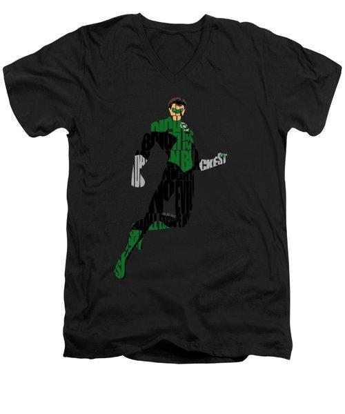Green Lantern Men's V-Neck T-Shirt