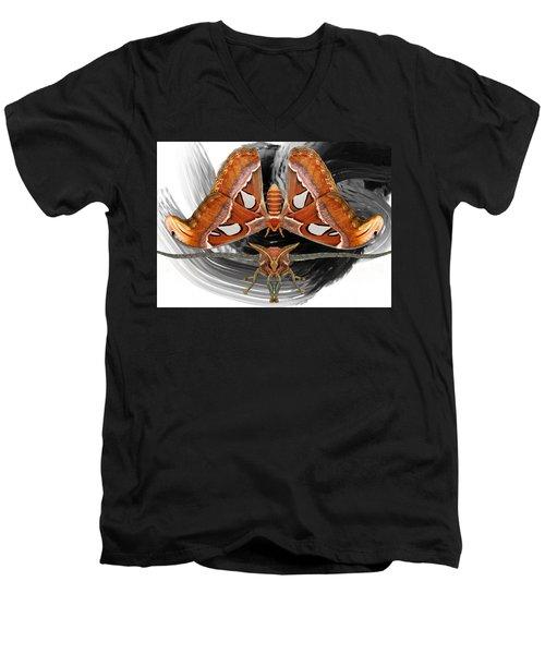 Atlas Moth8 Men's V-Neck T-Shirt