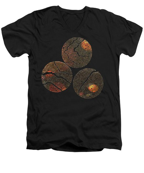 Atoms Ink Artwork Men's V-Neck T-Shirt