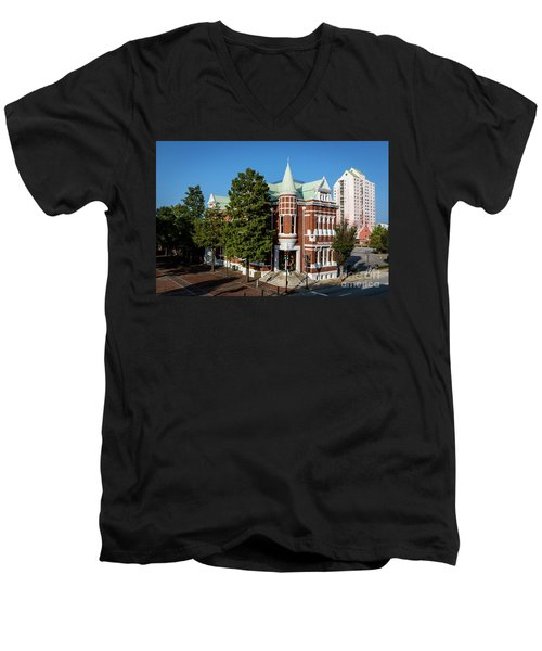 Augusta Cotton Exchange - Augusta Ga Men's V-Neck T-Shirt