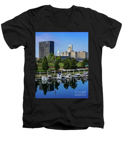 Augusta Ga Savannah River 3 Men's V-Neck T-Shirt