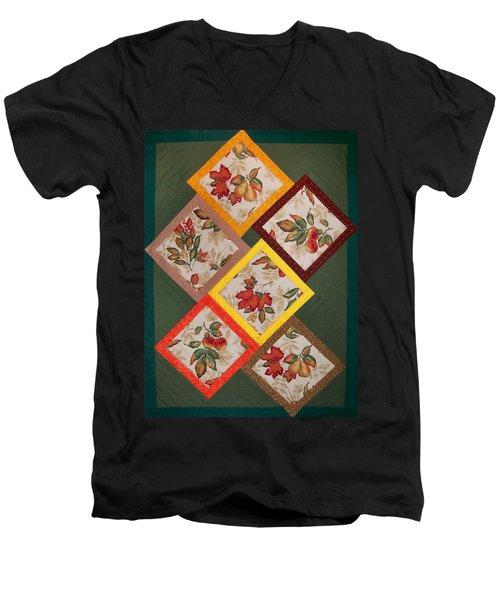 Autumn Fruit And Leaves Men's V-Neck T-Shirt