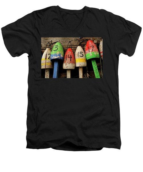 Bar Harbor Bouys Men's V-Neck T-Shirt