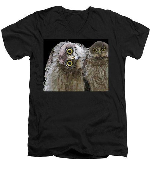 Barking Owls 2 Men's V-Neck T-Shirt