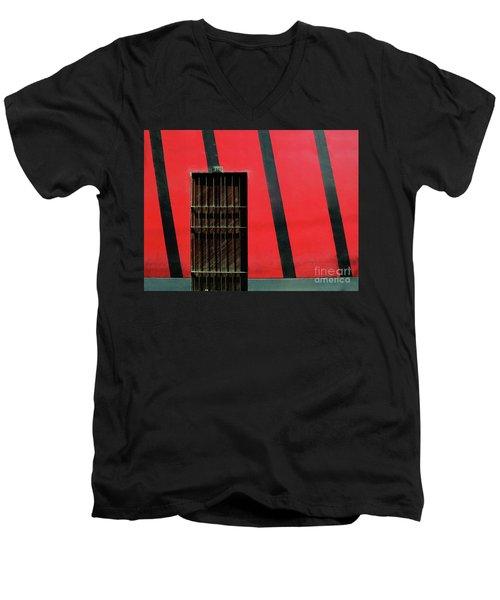 Bars And Stripes Men's V-Neck T-Shirt