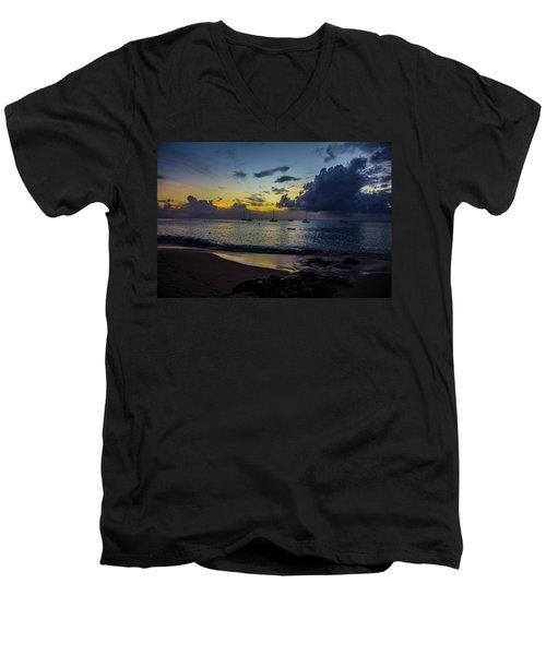 Beach At Sunset 3 Men's V-Neck T-Shirt