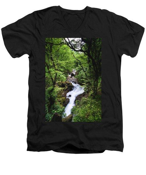 Bela River, Balkan Mountain Men's V-Neck T-Shirt