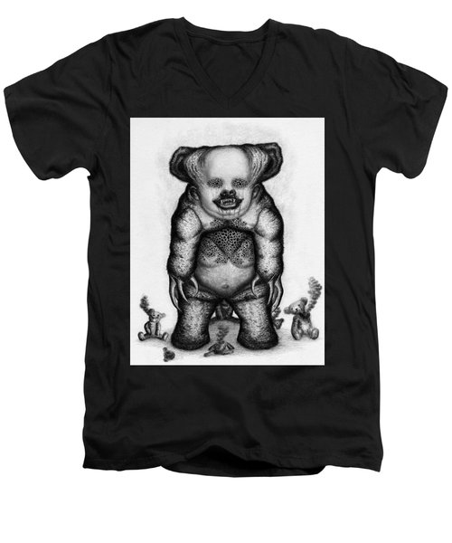 Benjamin The Nightmare Bear Artwork Men's V-Neck T-Shirt