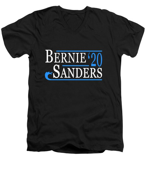 Bernie Sanders Blue Wave 2020 Men's V-Neck T-Shirt