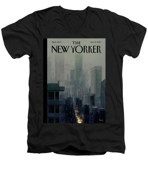 Big City Men's V-Neck T-Shirt