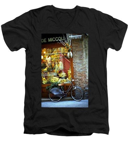Bike In Sienna Men's V-Neck T-Shirt
