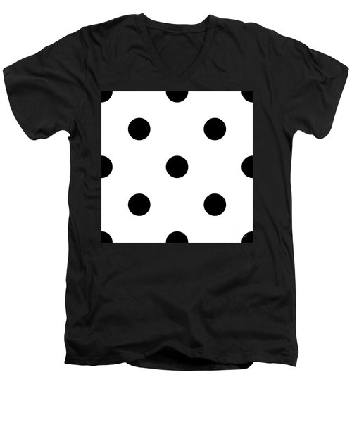 Black Dots On A White Background- Ddh610 Men's V-Neck T-Shirt