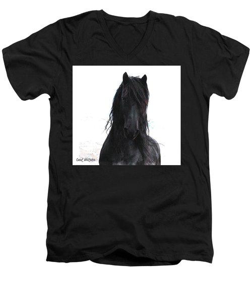 Black Pearl Gaze Men's V-Neck T-Shirt