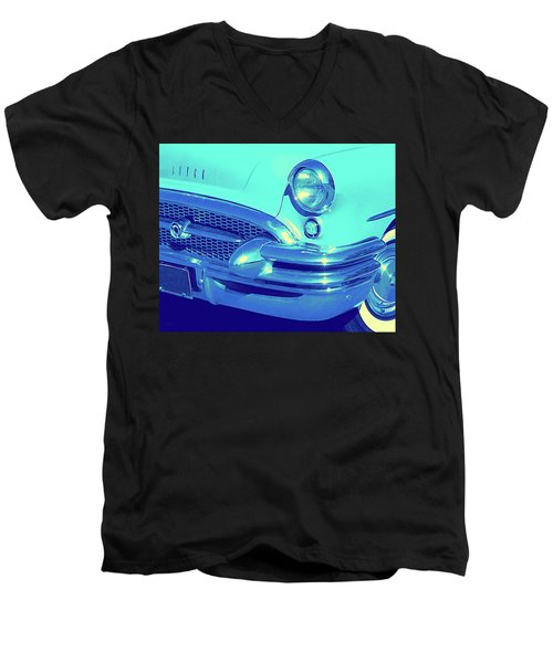 Blue 1955 Buick Special Men's V-Neck T-Shirt